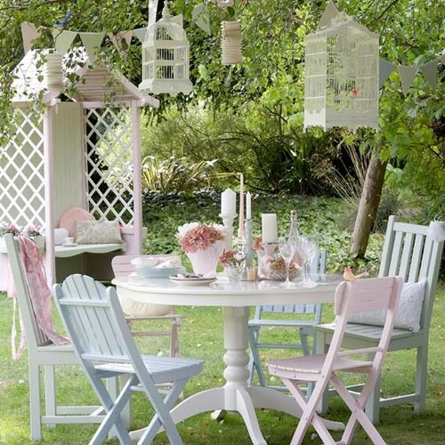 Backyard Party Table Decor Beautiful Setting Tablescape