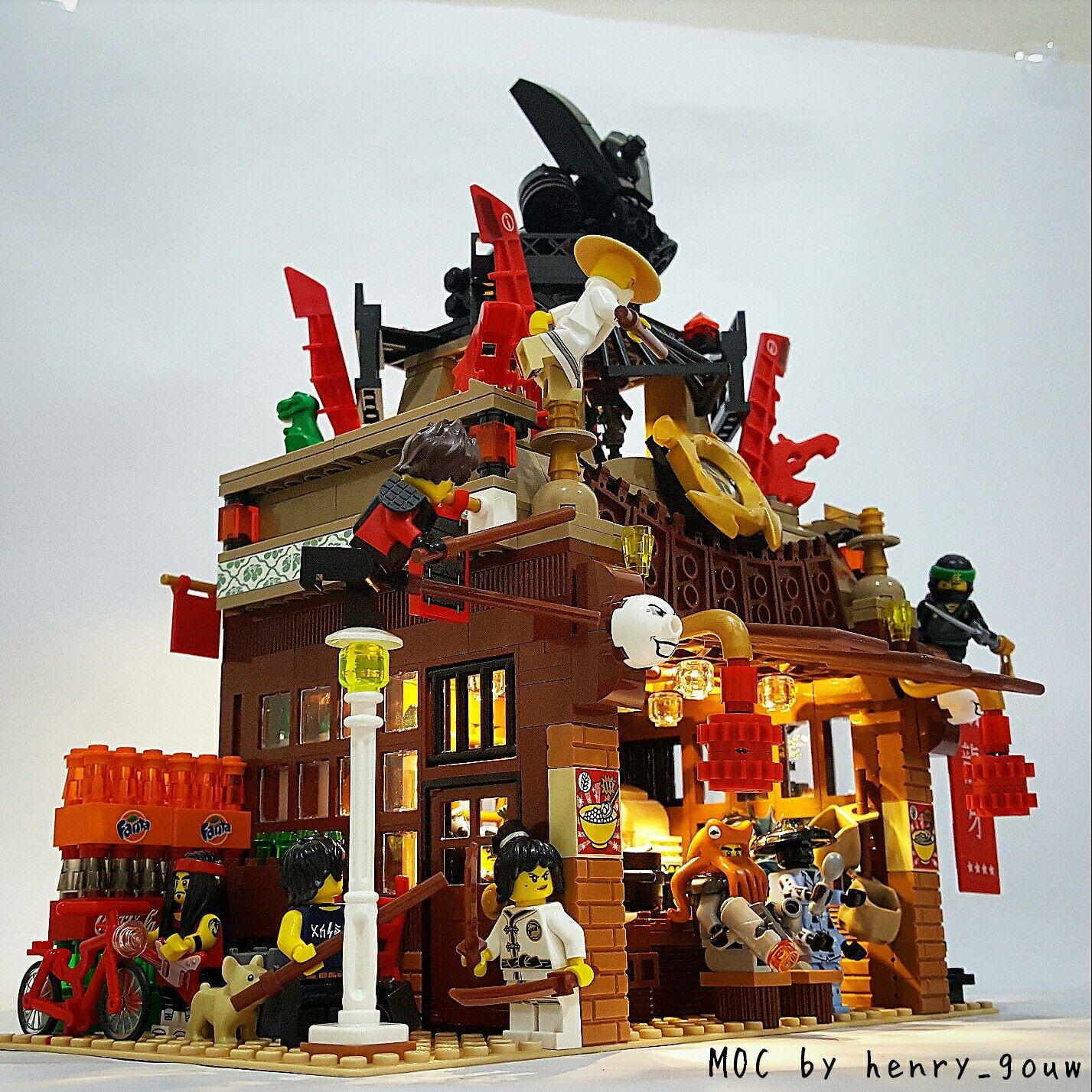 "The LEGO Ninjago Movie Set 2017 ""Garmadon s Restaurant Ambush"" MOC"