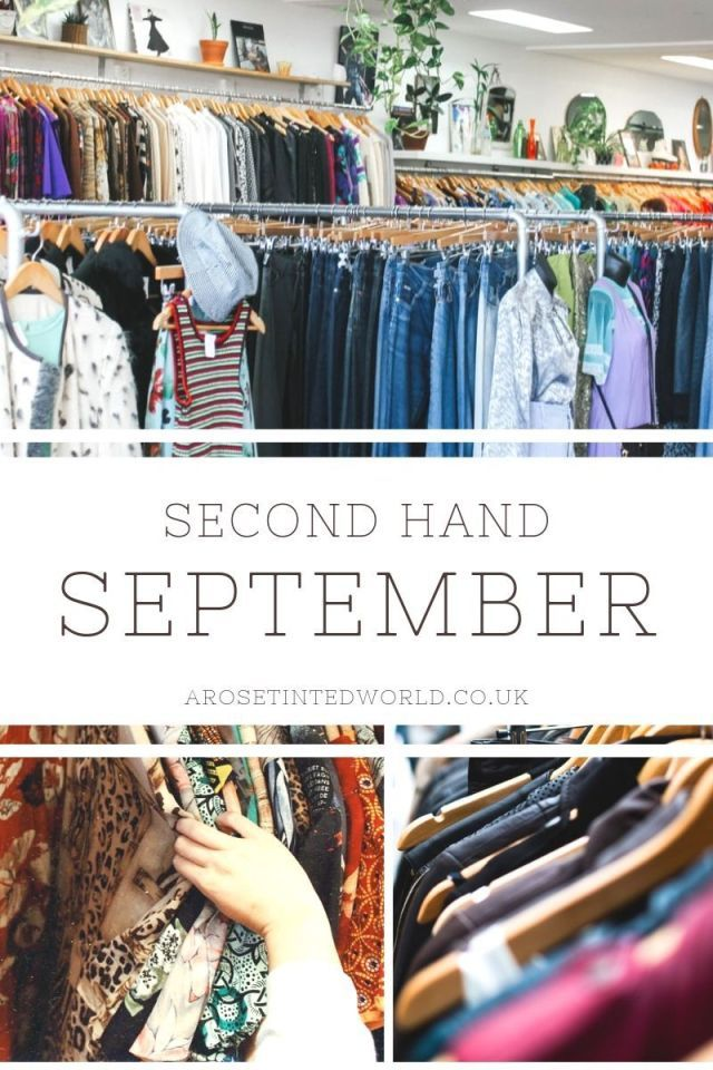 Second Hand September Could Your Wardrobe Be More