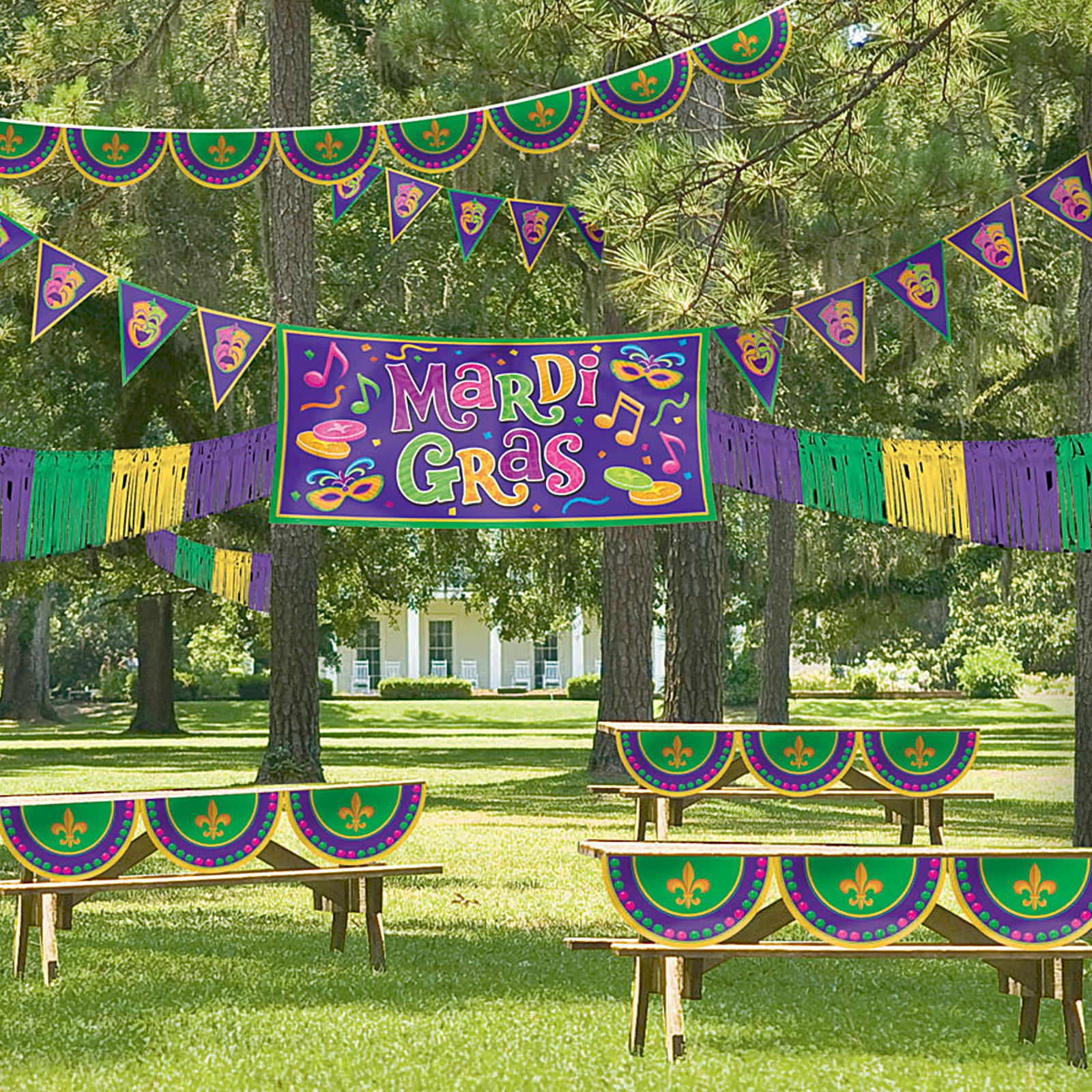 mardi gras decorating ideas outdoor   garden decor   pinterest