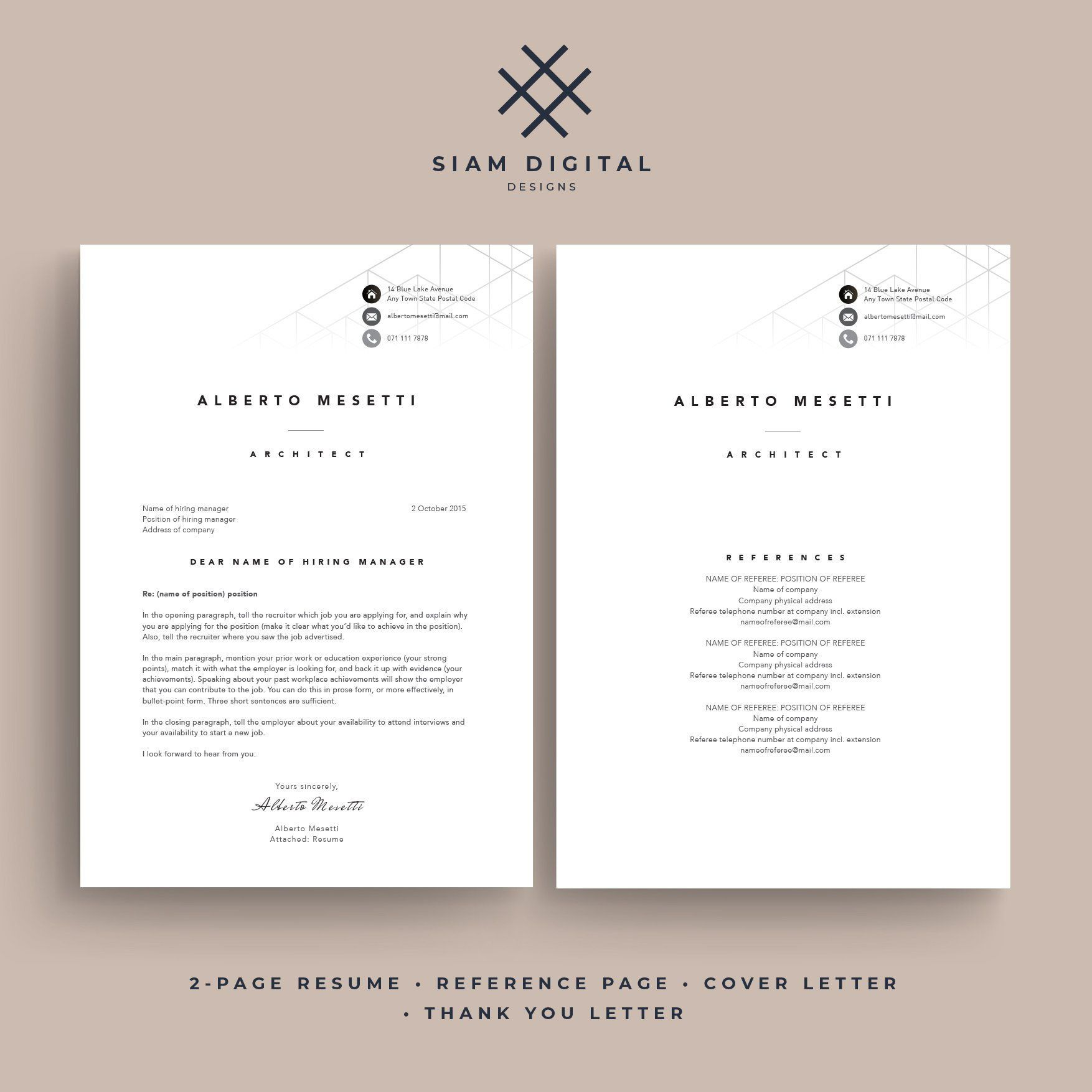 Resume 4 Pack Stylish Design Professional Layout For Adobe