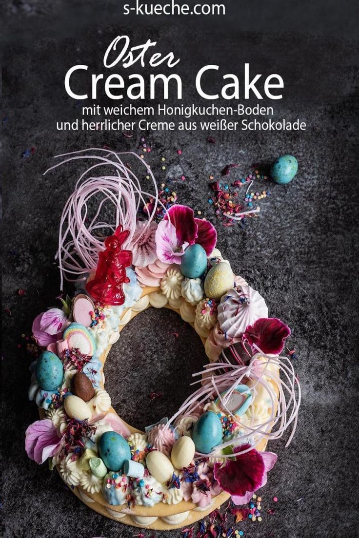 Frühlings Cream Cake - Mein Number-Letter Cake in der Oster- und Ganzjahres-Version #lettercakegeburtstag