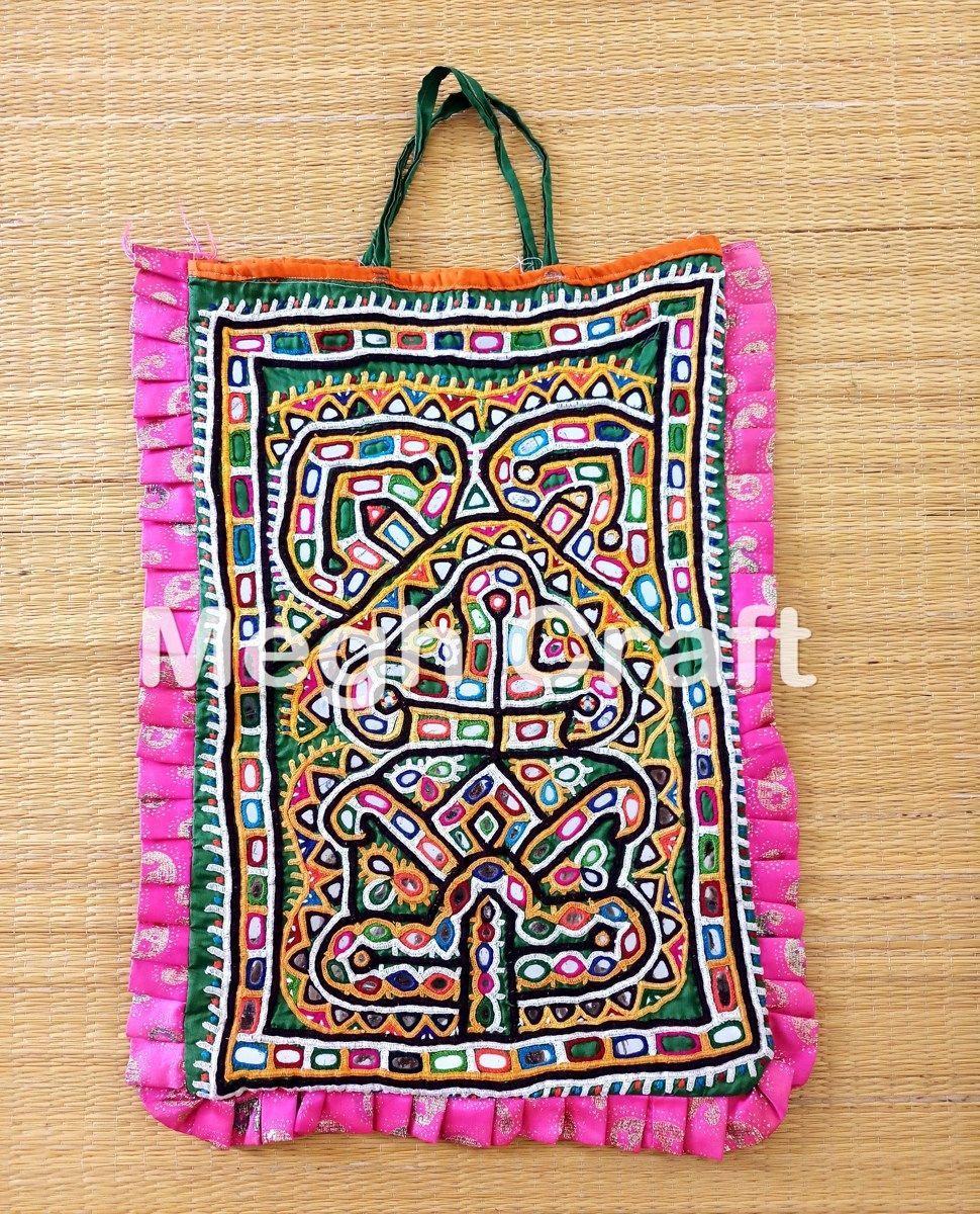 9714f92afeee Gujarati Mirror work Theli Bag-Indian Traditional Theli Bag-Vintage Mirror  bag