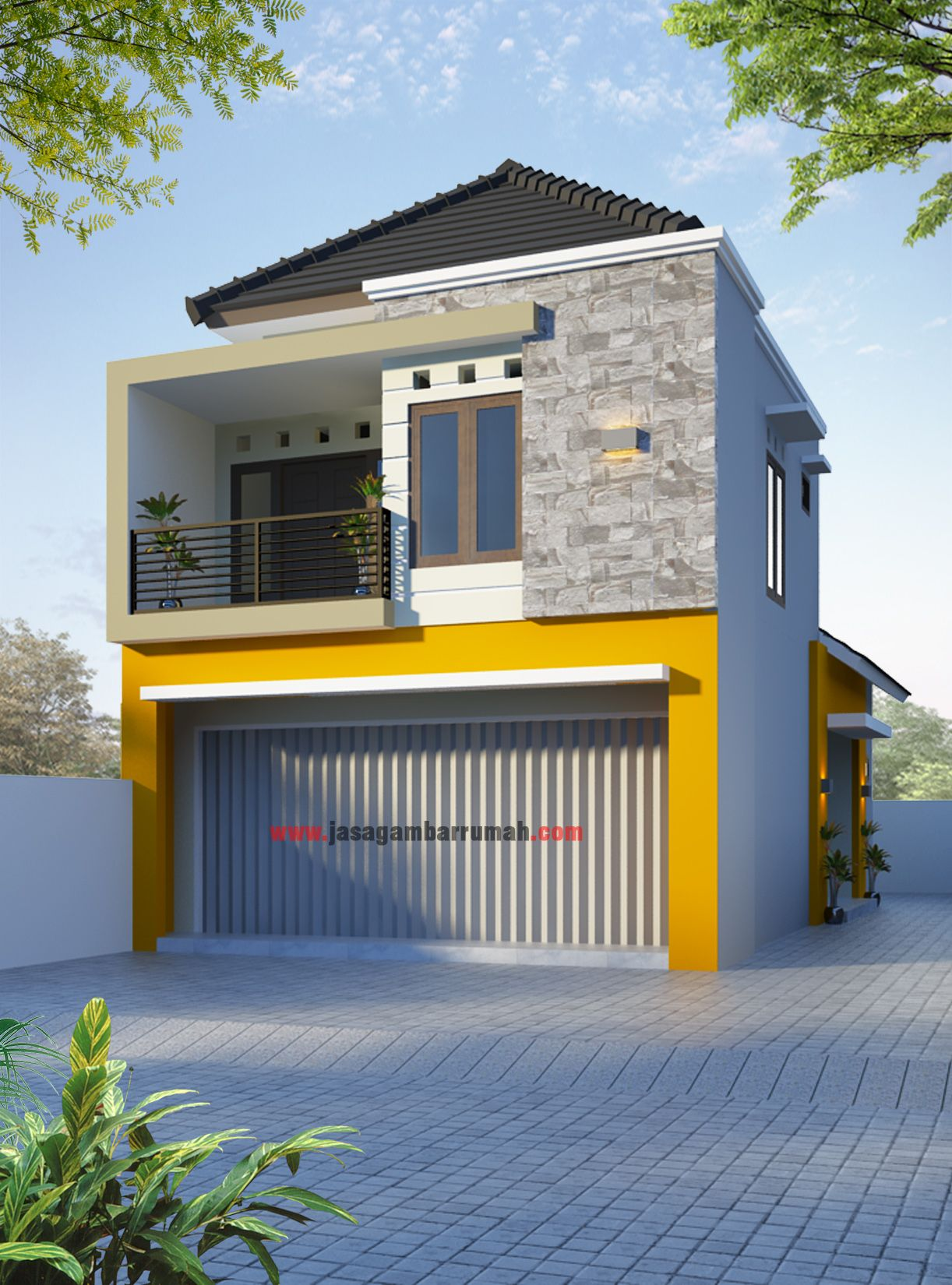 Ruko2lbhb.jpg (1222×1650) | Rumah Minimalis, Desain Eksterior, Rumah