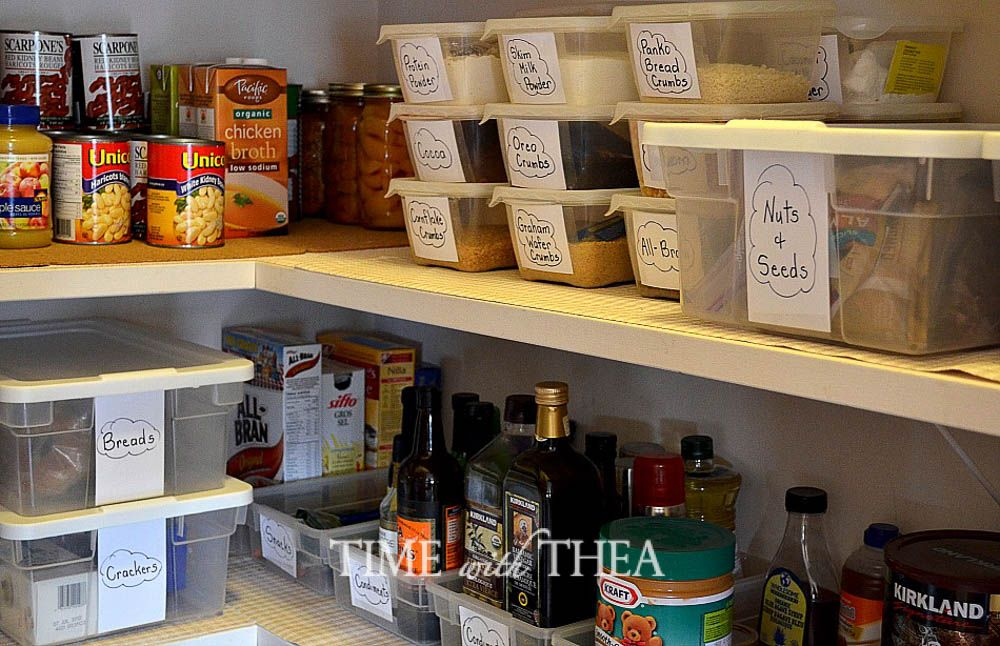 Ideas for an Organized Pantry Pantry and Organizations