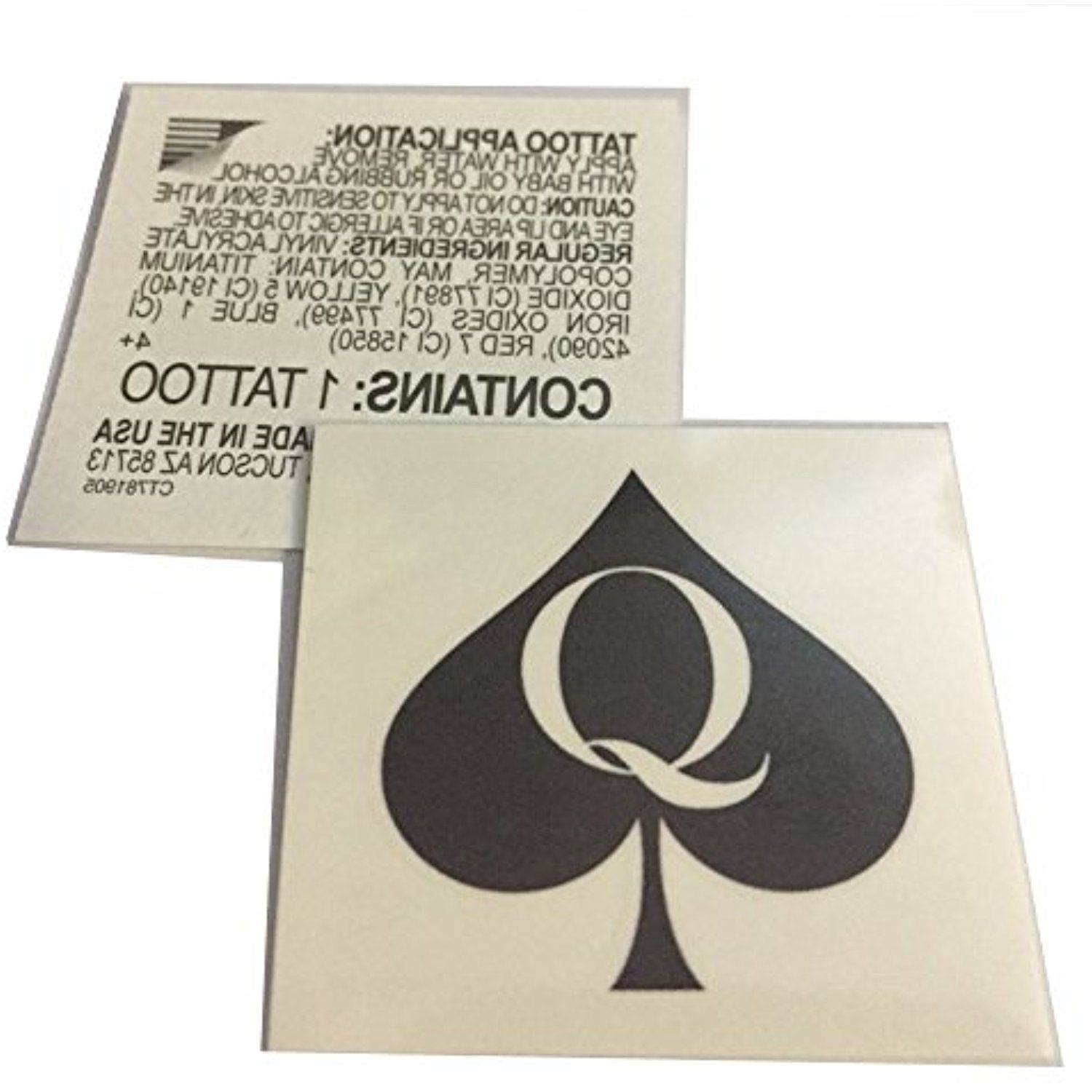20 X Set Queen Of Spades Temporary Tattoos Hotwife Bbc Cuckold Swinger For More Information Visit Image Link This Is An Affiliate Link