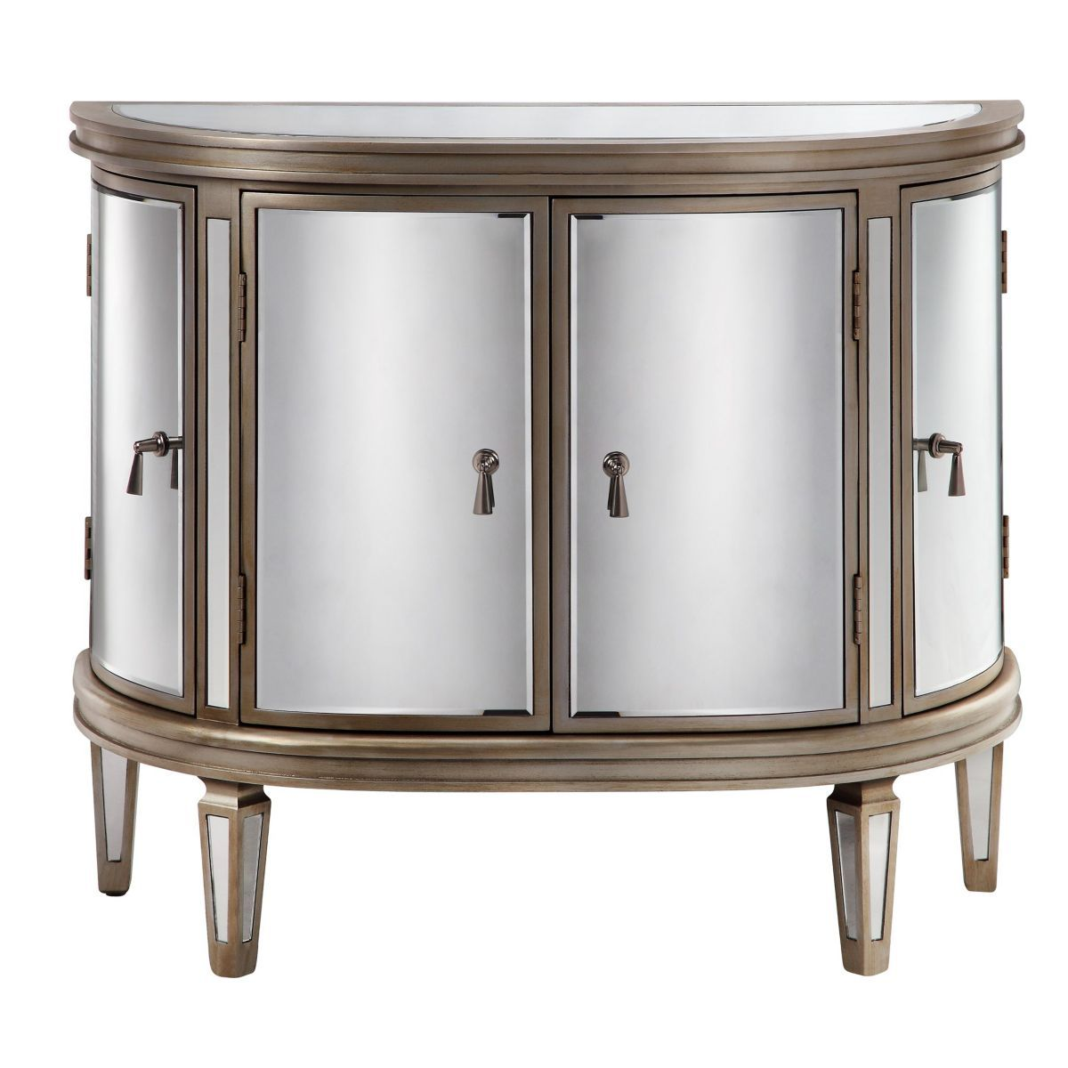 Directbuy Inc Accent Doors Accent Cabinet Mirrored Accent Table
