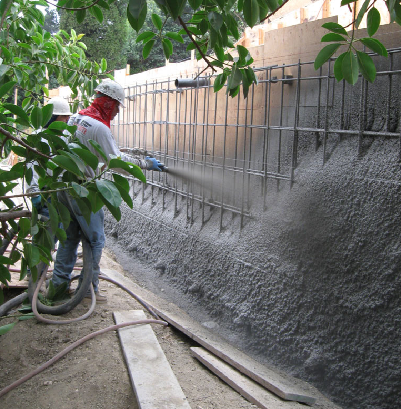 Concrete Retaining Wall Sprayed Concrete In 2019