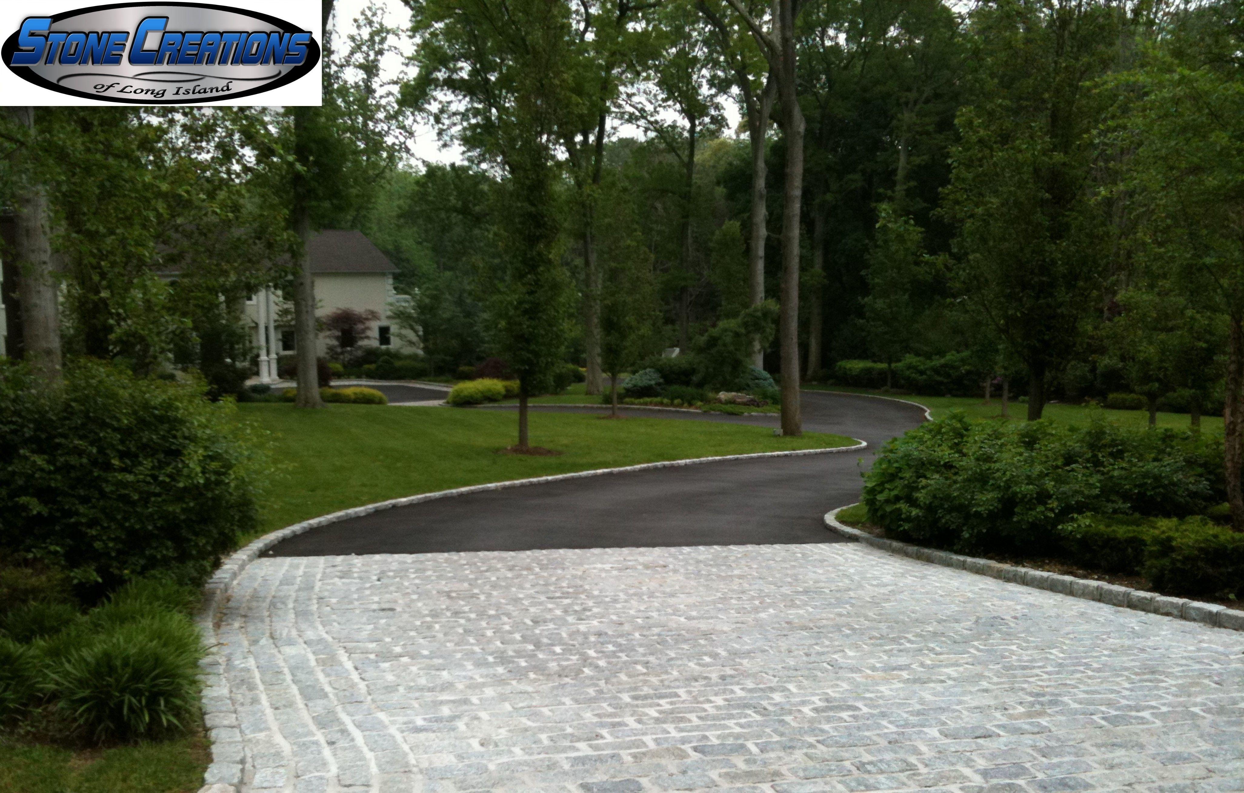 Cobblestone Apron Asphalt Driveway Nassau County Long Island