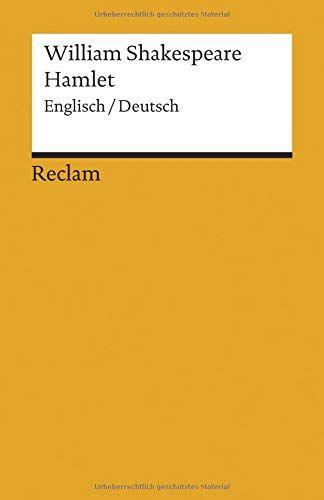 Hamlet Englisch Deutsch Reclams Universal Bibliothek Deutsch Englisch Hamlet Bibliothek Buchclub Bucher Englisch Deutsch Kindle Bucher