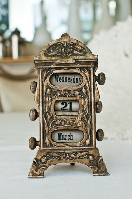 Art Nouveau Bronze Perpetual Calendar from Paris Hotel Boutique