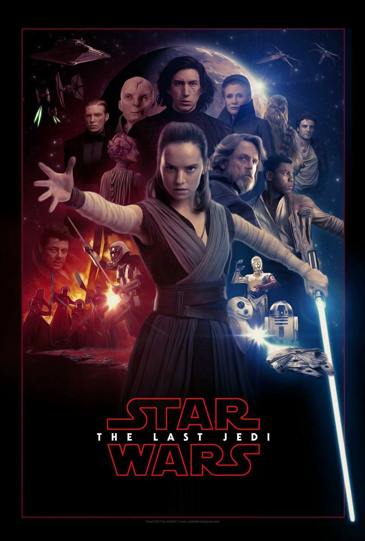 Rey Daisy Ridley Star Wars VIII The Last Jedi Movie Wall Art Silk Fabric Poster