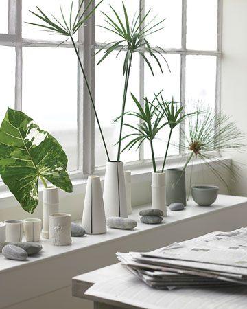Green and White. Bij mij in de vensterbank