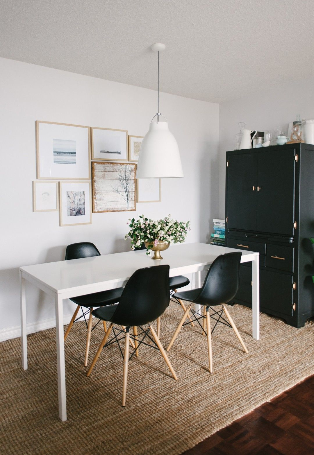Edgy Meets Girly Dining Room