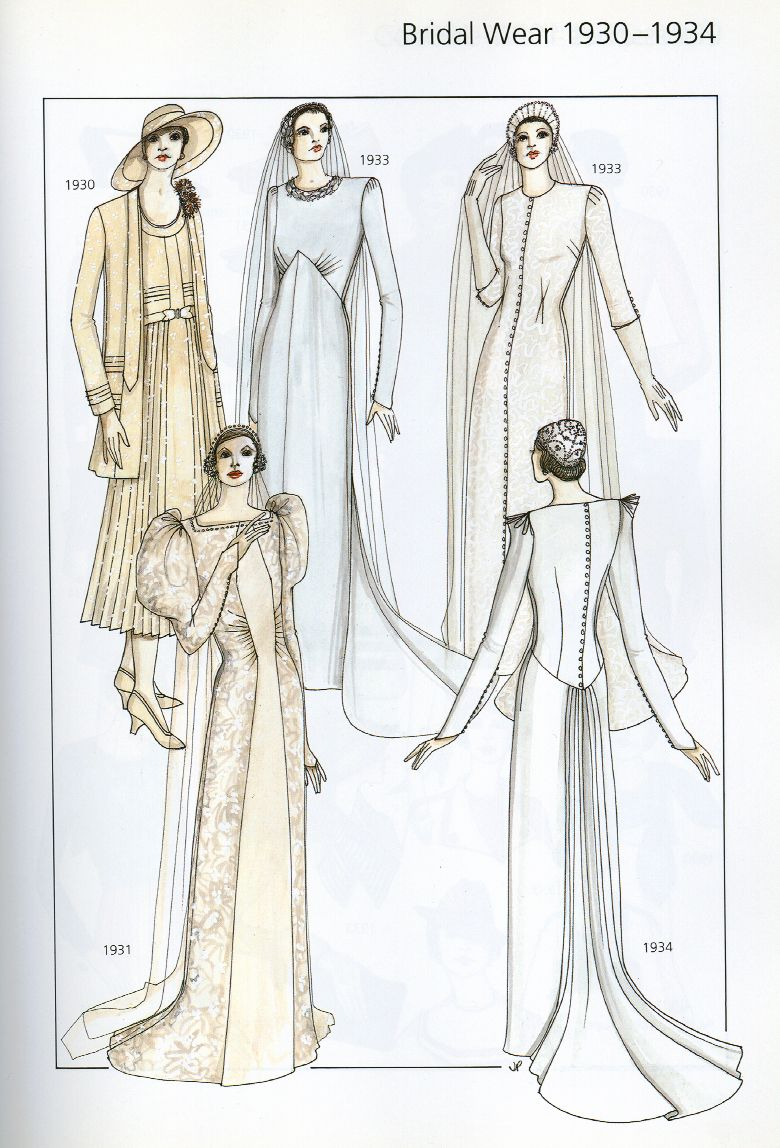 Wedding Gowns from the 1930-1934 20th Century Fashion by John ...