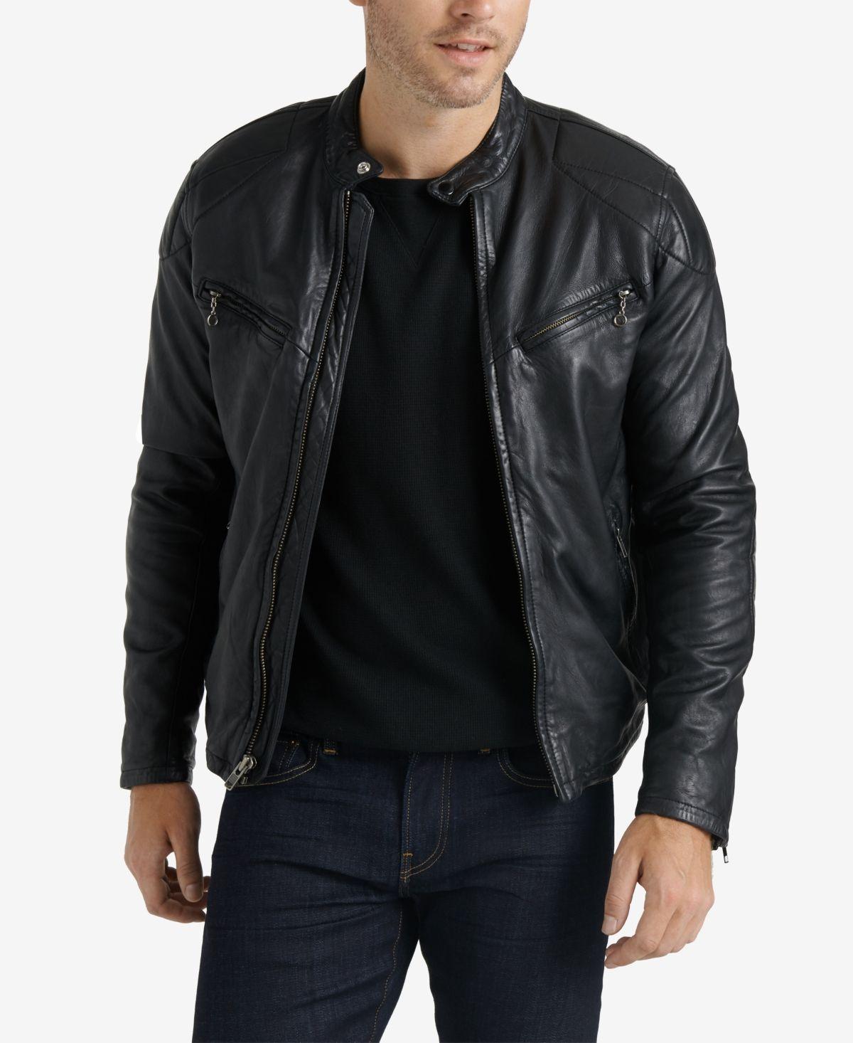 Lucky Brand Men S Leather Jacket Black Black Leather Jacket Men Leather Jacket Men Style Men S Leather Jacket
