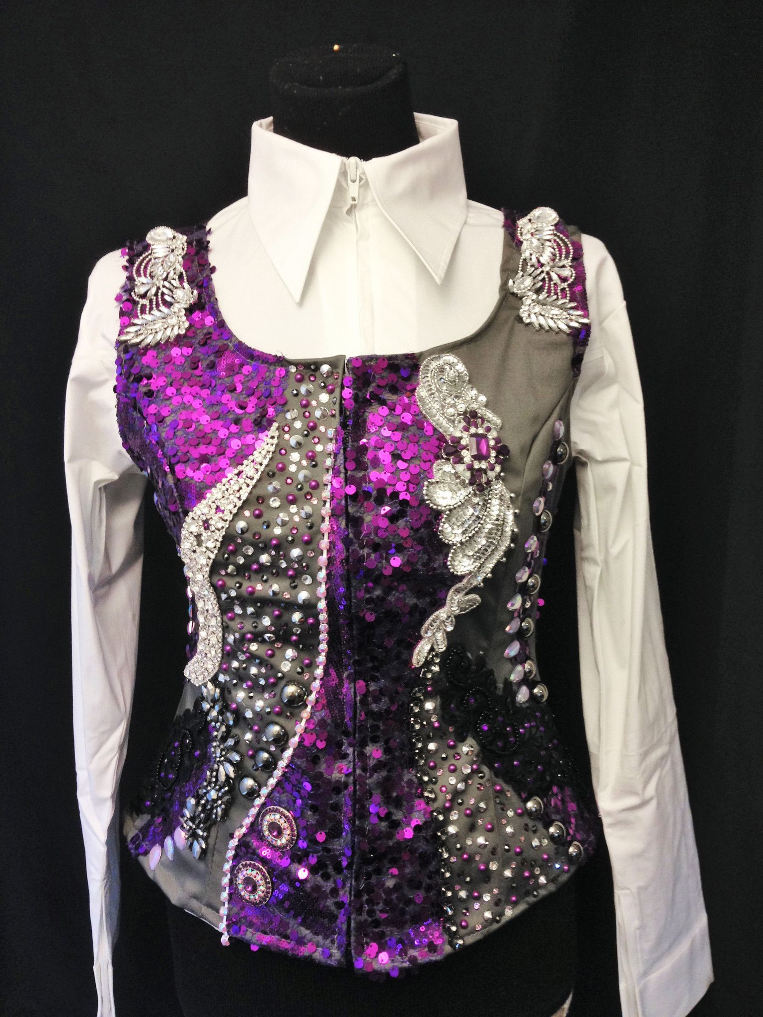 Charcoal & Purple Loaded Vest