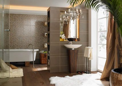 Wandgestaltung im Badezimmer | Pinterest | Wild things, Bath and ...