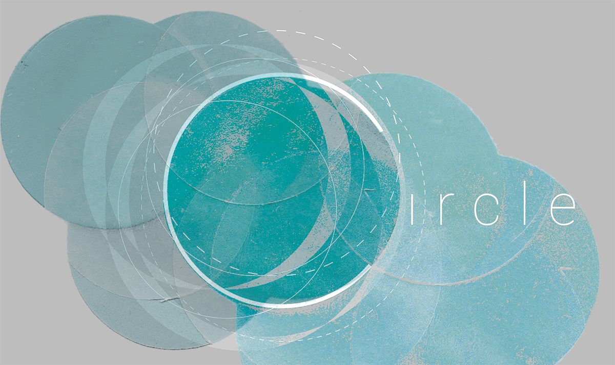 Creative typography, response to the word 'Circle', Word association project. Inspired by lunar landings.