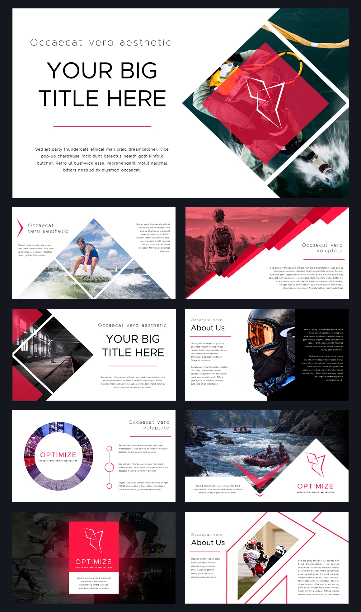 optimize modern powerpoint template by thrivisualy on