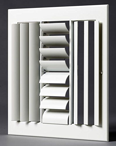 12 X 12 4 Way Air Vent Adjustable Aluminum Curved Blades Maximum Air Flow Hvac Grille See This Great Product With Images Air Vent Hvac
