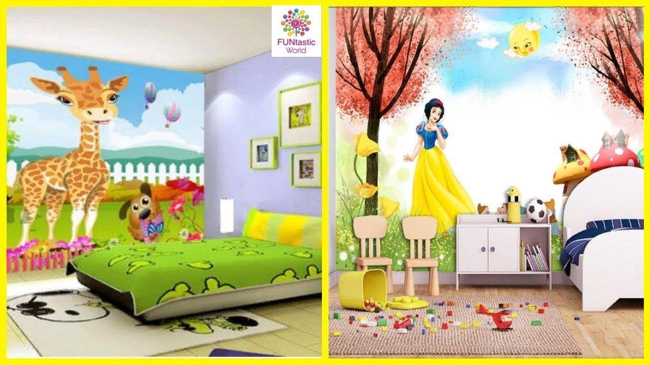 Children S Room Decoration Inspiring Ideas Home Interior Design Ideas Kids Bedroom Wallpaper Wallpaper Design For Bedroom Wallpaper Childrens Room
