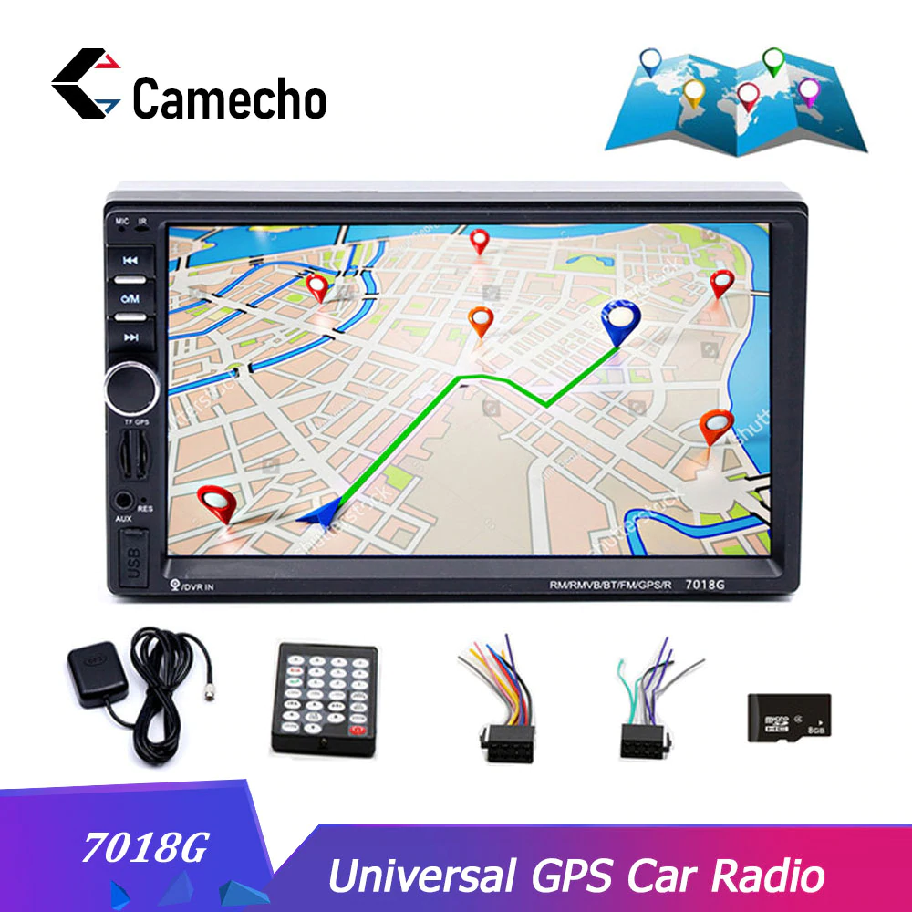 "2 Din 7/"" HD Car Head Unit Stereo MP5 Player  BT Touch Phone Mirror Link for GPS"