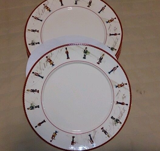 photo relating to Williams Sonoma Coupons Printable named William Sonoma Nutcracker Meal Plates (6) Xmas