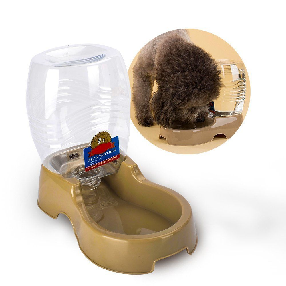 Cat Water Dispenser, TIOVERY Automatic Pet Cafe Pet Waterer Food ...