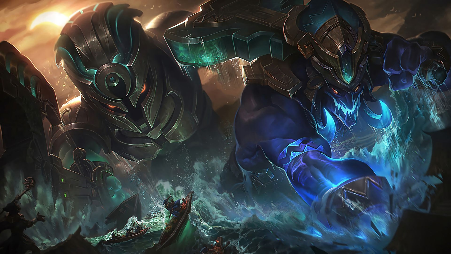 Download Wallpaper Worldbreaker Skins Trundle And Nautilus Full Hd