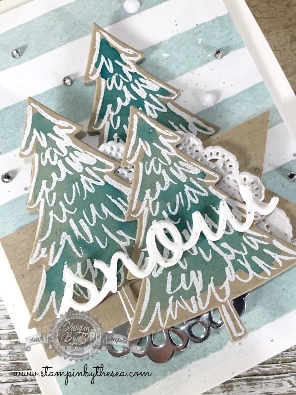 Peaceful Pines stamp set, Stampin' Up!-stampin by the sea