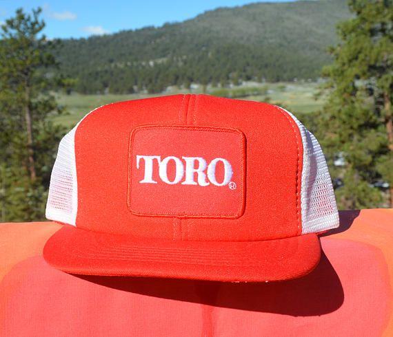 e23a7e20dc4d88 80s vintage foam trucker mesh hat TORO lawn mower snapback baseball ...