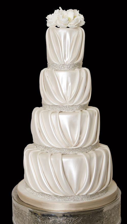 Pin By Austin Wedding Day On Cakes Sweets Treats Pleated Cakes Gorgeous Cakes Ivory Wedding Cake
