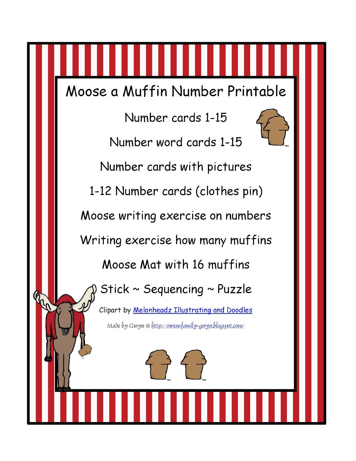 Moose A Muffin Printable