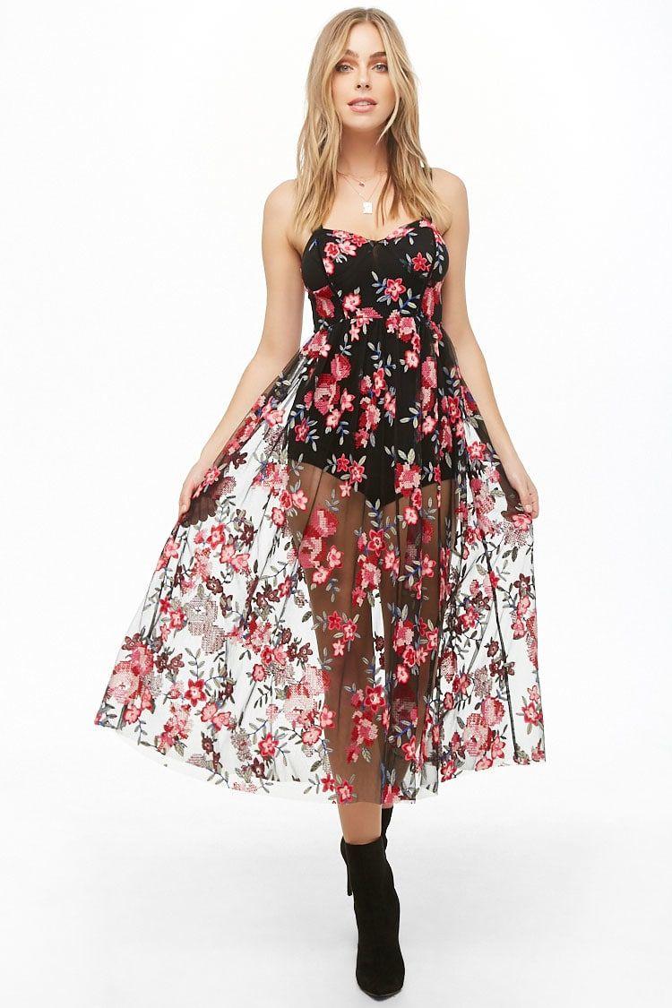Sheer Floral Embroidered Cami Dress Forever 21 Wedding Guest Dress Sheer Wedding Dress Wedding Guest Dress Summer [ 1125 x 750 Pixel ]