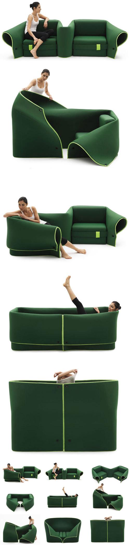 Awesome convertible sofa.