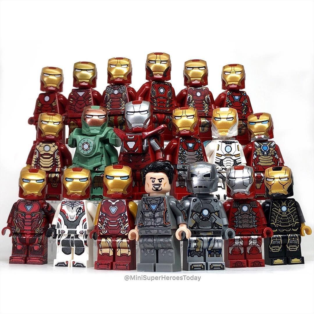 Iron Man Mark 23 Avengers End Game Lego Moc Minifigure Toys Collection