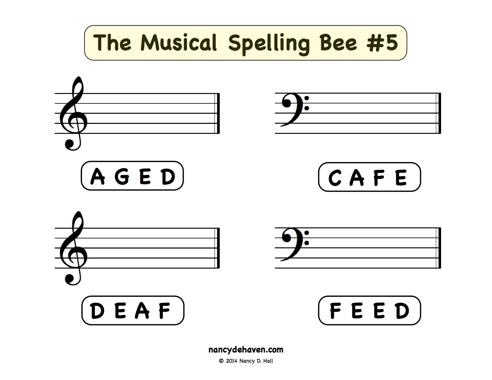 The Musical Spelling Bee 2 | Piano Lessons | Pinterest | Piano ...