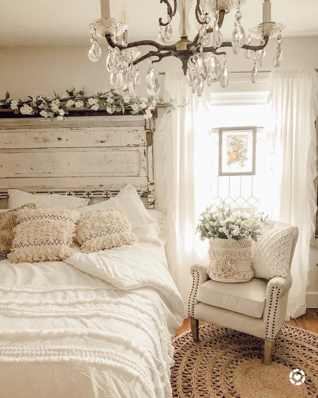 Photo of Vintage Boho Bedroom Shabby Chic   Shabby Boho Bedroom#bedroom #boho #chic #shab…