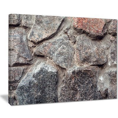 "DesignArt 'Natural Granite Stone Texture' Photographic Print on Wrapped Canvas Size: 30"" H x 40"" W x 1"" D"