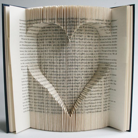 Book Folding Pattern Heart Cut And Fold With Free Printable