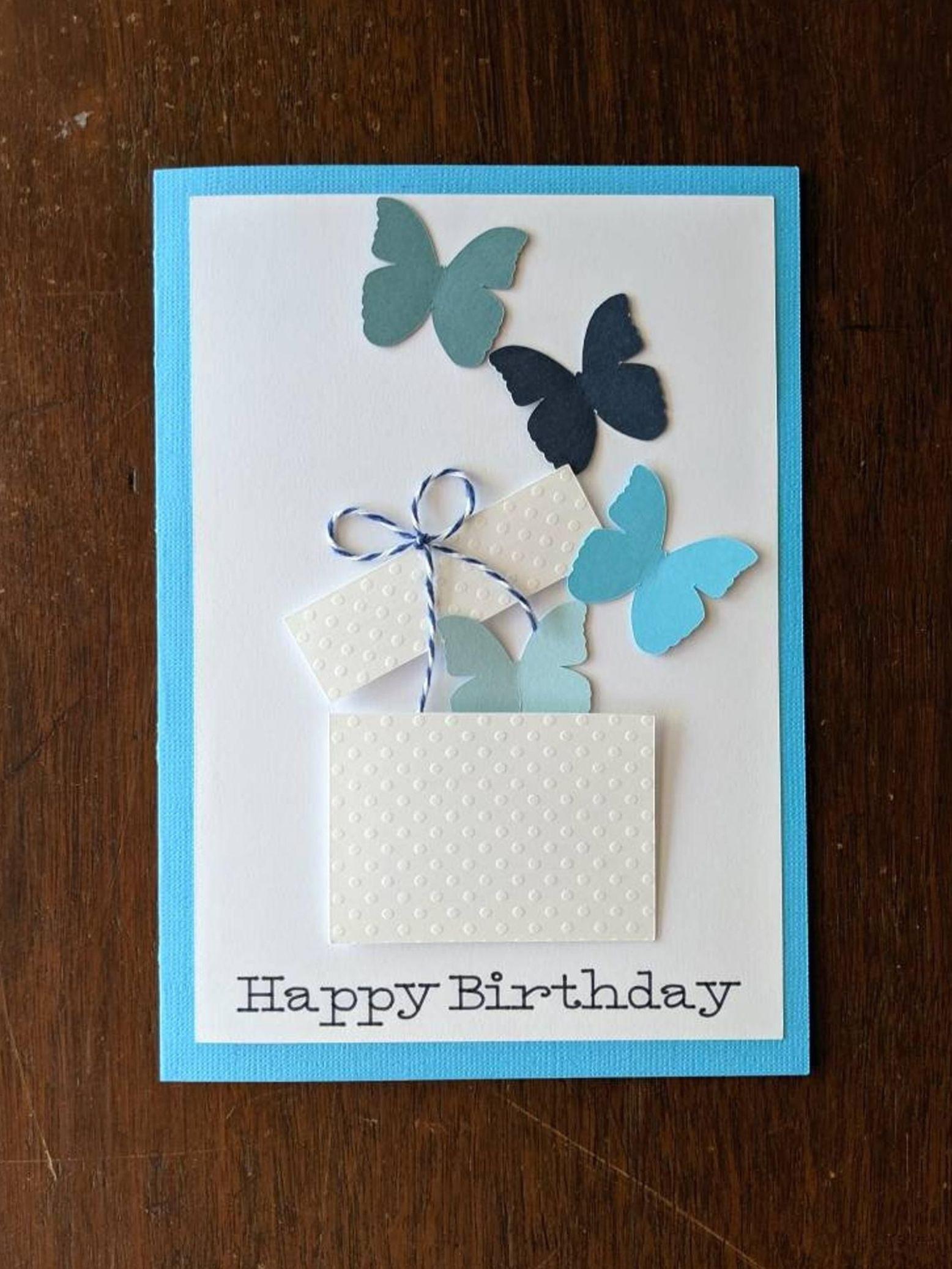 Printable Happy Birthday Card Download Birthday Card Download Floral Birthday Greeting Card In 2021 Handmade Birthday Cards Birthday Card Craft Butterfly Birthday Cards