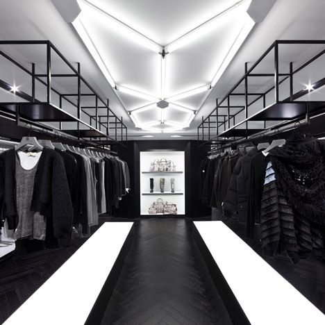 retail interior nelson boutique chow leighton centre shine masculine stores hong kong dezeen space interiors showroom sofiliumm architecture brand monochrome