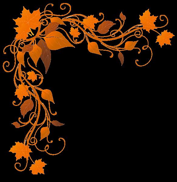 Transparent Autumn Decoration Png Clipart Image Clip Art Borders Fall Clip Art Fall Borders