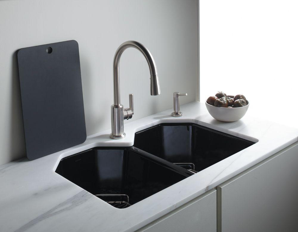 Vir Stil pull-down kitchen faucet by Laura Kirar from KALLISTA ...