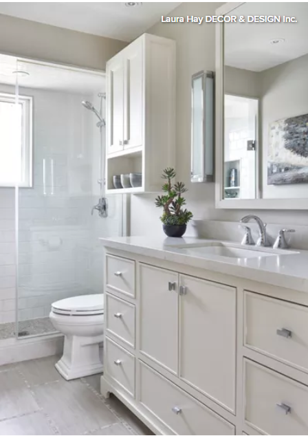 50 Square Foot Bathroom Goes From Dark To Light With Images