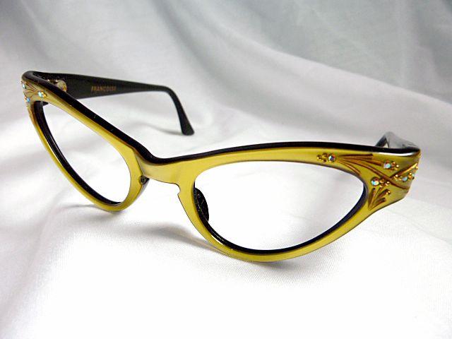 """my new eyeglasses! vintage """"Frame France"""" frames."""