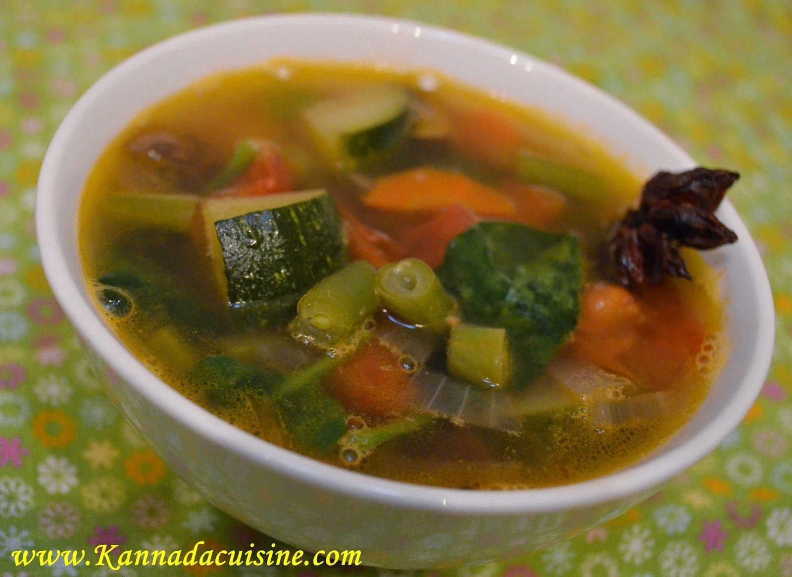Kannada cuisine vegetable soup karnataka veg manglore udipi recipes from karnataka forumfinder Images