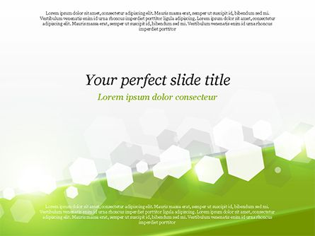 Abstract Hexagons PowerPoint Template nice Background templates