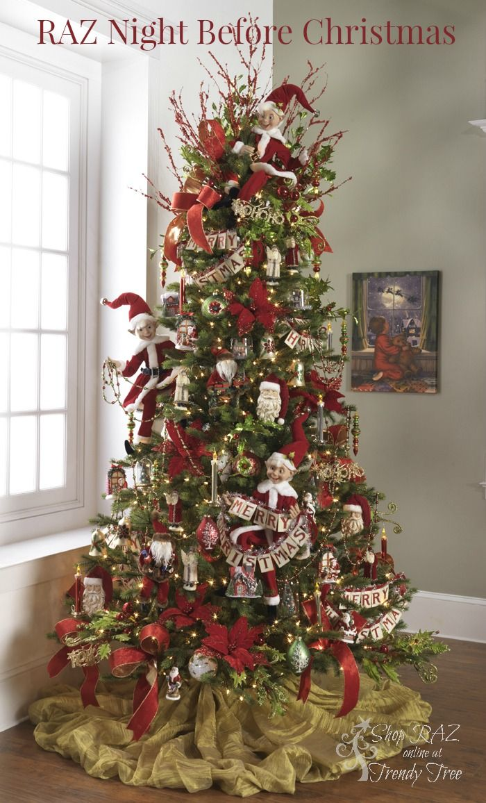 raz 2015 night before christmas tree visit httpwwwtrendytreecom for raz christmas decorations - Raz Christmas Decorations